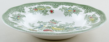 Wedgwood and Co Asiatic Pheasants green with colour Dessert or Small Soup Plate c1960s