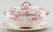 Ford Ontario pink Sauce Tureen c1895