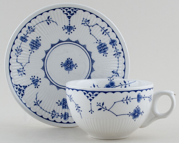 Furnivals Denmark Teacup and Saucer