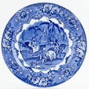 Jones George Spanish Festivities Plate c1900
