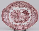 Grindley Homeland pink Sauce Boat Stand c1970s