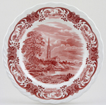 Grindley Scenes After Constable pink Plate c1950s
