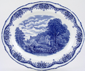 Meat Dish or Platter Arundel Mill & Castle c1930s