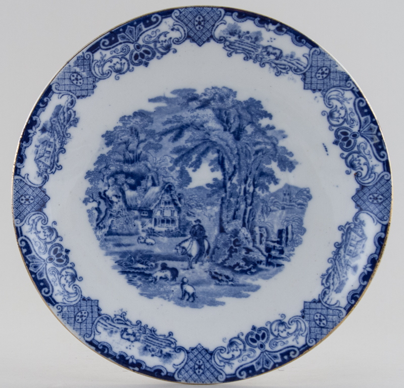 Williamson Old English Scenery Bread and Butter Plate c1920