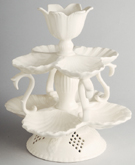 Hartley Greens Leeds Pierced Ware cream Centrepiece