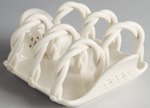 Hartley Greens Leeds Pierced Ware cream Toast Rack