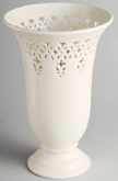 Hartley Greens Leeds Pierced Ware cream Vase