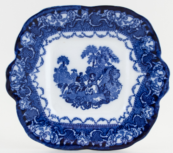 Hales Hancock and Godwin Watteau Bread and Butter or Cake Plate c1920s