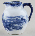 Hughes Unidentified Pattern Miniature Jug or Creamer c1910