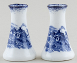 Hughes Unidentified Pattern Miniature Vases pair of c1910