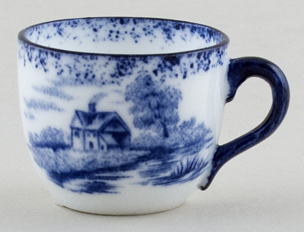 Hughes Unidentified Pattern Miniature Cup c1910