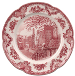 Johnson Bros Old Britain Castles pink Charger or Platter