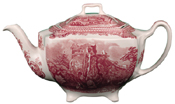 Johnson Bros Old Britain Castles pink Teapot