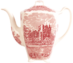 Johnson Bros Old Britain Castles pink Coffee Pot