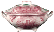 Johnson Bros Old Britain Castles pink Soup Tureen
