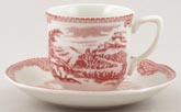 Johnson Bros Old Britain Castles pink Coffee Cup and Saucer