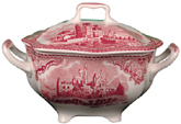 Johnson Bros Old Britain Castles pink Sugar with Cover