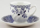 Johnson Bros Devon Cottage Coffee Cup and Saucer