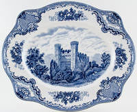 Johnson Bros Old Britain Castles Meat Dish or Platter Stafford c1960