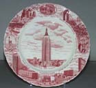 Plate Empire State Building c1960s