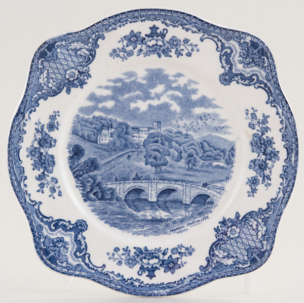 Johnson Bros Old Britain Castles Sandwich Plate c1930s