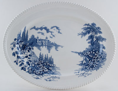 Johnson Bros Castle On The Lake Meat Dish or Platter c1960s