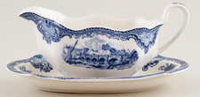Johnson Bros Old Britain Castles Sauce Boat with Stand