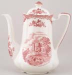Johnson Bros Old Britain Castles pink Coffee Pot c1970s