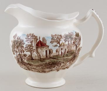 Johnson Bros Mount Vernon brown with colour Jug or Pitcher c1960s