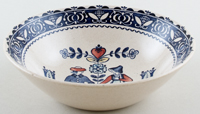 Johnson Bros Hearts and Flowers blue with colour Cereal or Dessert Bowl c1980