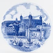 Johnson Bros Commemorative Series Plate Tower of London c1970