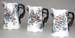 Jugs or Pitchers Set of Three c1890