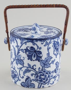 Keeling Jacobean Biscuit Barrel c1920