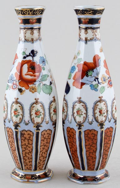 Keeling Clifford colour Vases Pair c1920s