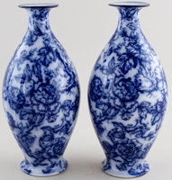 Keeling Cavendish Vases Pair of c1920s