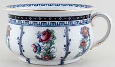 Keeling Unidentified Pattern colour Chamber Pot c1915