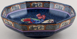 Keeling George and The Dragon blue with colour Bowl c1920s