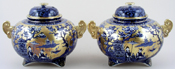 Pot Pourri Jars pair of c1920s