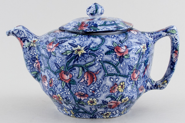 Maling Ringtons Chintz blue with colour Teapot c1930s