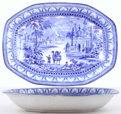 Maling Blue Egypt Bowl c1930s