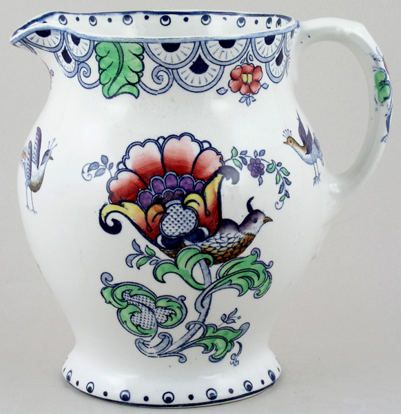 Maling Unidentified Pattern blue with colour Jug or Pitcher c1920s
