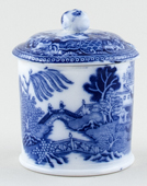 Maling Two Temples Preserve Pot small c1930s