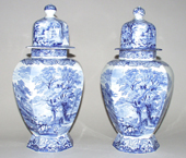 Vases Pair with Covers c1920s