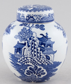 Masons Blue Chinese Landscape Ginger Jar