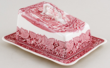 Masons Vista pink Cheese Dish c1950s