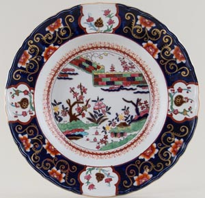 Masons Chinese Wall colour Soup Plate c1930s