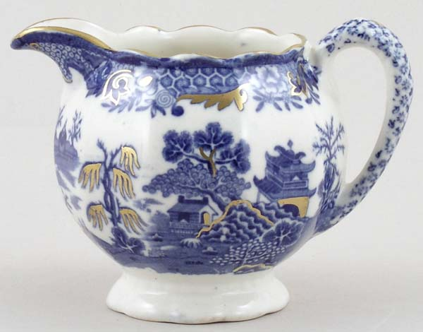 Masons Blue Chinese Landscape Creamer or Jug c1920s