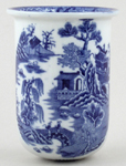 Masons Blue Chinese Landscape Toothbrush Holder c1920