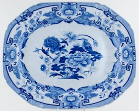 Meat Dish or Platter with tree and well c1820