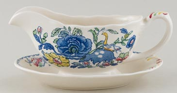 Masons Regency colour Sauce Boat on Fixed Stand